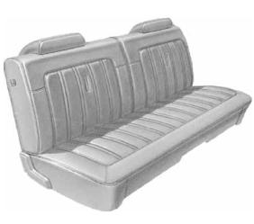 Dante's Mopar Parts - Mopar Seat Covers 1973 Charger B body Front Split Bench