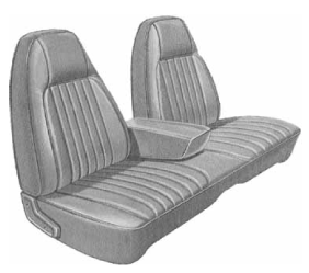 Dante's Mopar Parts - Mopar Seat Covers 1974 Charger SE  Front Split Bench with Center Armrest - Image 1