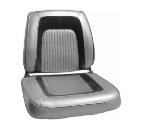 Dante's Mopar Parts - Mopar Seat Covers 1965 Dodge Coronet 500 Front Buckets