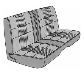Dante's Mopar Parts - Mopar Seat Cover 1968 Coronet 500 B body Front Split Bench