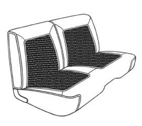 Dante's Mopar Parts - Mopar Seat Cover 1968 Coronet Deluxe B body Rear Bench