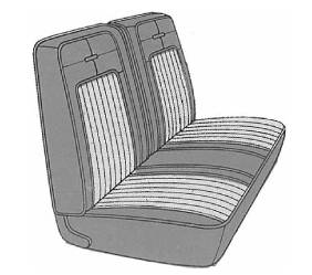Dante's Mopar Parts - Mopar Seat Cover 1969 Coronet 500 B body Rear Bench - Image 1