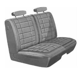 Dante's Mopar Parts - Mopar Seat Covers 1970 Coronet 440 & Superbee B body Rear Bench