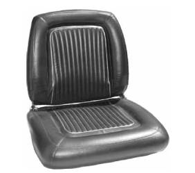 Dante's Mopar Parts - Mopar Seat Covers 1964 Dodge Polara 500 Front Buckets