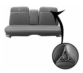 Dante's Mopar Parts - Mopar Seat Covers 1964 Dodge Polara Front Split Bench with Center Armrest - Image 1