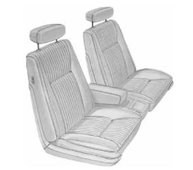 Dante's Mopar Parts - Mopar Seat Cover 1970 Chrysler 300 & Newport Front Buckets