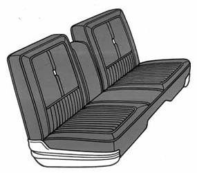Dante's Mopar Parts - Mopar Seat Cover 1968 Chrysler 300 & Newport Front Split Bench
