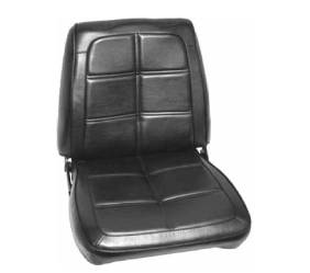 Dante's Mopar Parts - Mopar Seat Cover 1969 Charger RT SE & Charger SE Leather Style Front Buckets