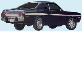 Dante's Mopar Parts - Mopar Stripes 1973-1974 Dodge Dart Sport Mid-Body Longitudinal Stripe