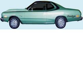 Dante's Mopar Parts - Mopar Stripes 1973-1974 Dodge Dart Sport Sides, Over the Roof & Tail Panel - Image 1