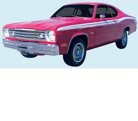 Dante's Mopar Parts - Mopar Stripe Kit 1973-1974 Plymouth Duster & Twister - Image 1