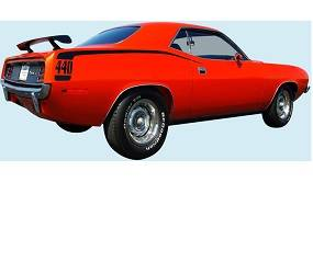 Dante's Mopar Parts - Mopar Stripe Kit 1970 Plymouth Cuda Hockeystick
