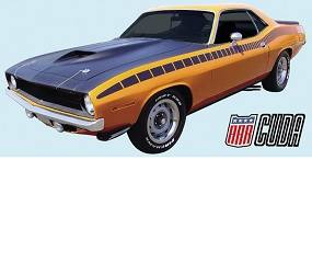 Dante's Mopar Parts - Mopar Stripe Kit 1970 Plymouth AAR Cuda
