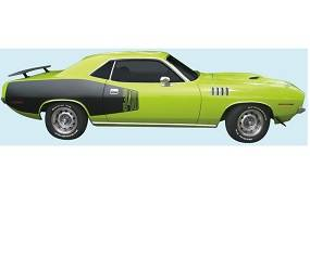 Dante's Mopar Parts - Mopar Stripe Kit 1971 Plymouth Cuda Billboard - Image 1