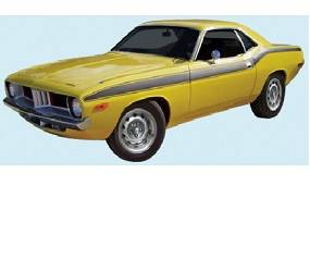 Dante's Mopar Parts - Mopar Stripe Kit 1972 Plymouth Cuda - Image 1