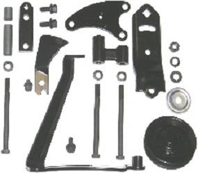 Dante's Mopar Parts - Mopar Alternator Bracket Kit - 1969-1972 383 & 400 Big Block with Air Conditioning