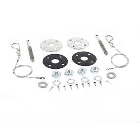 Dante's Mopar Parts - Hood Pin Kits with 25* Lanyards - 1971-1974 B-body