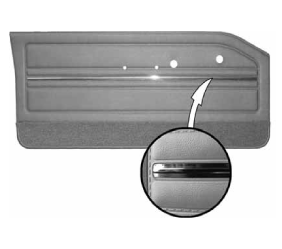 Legendary Auto Interiors - 1965 Dodge Dart GT Bucket Style Front Door Panel - Image 1
