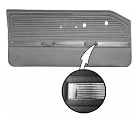 Legendary Auto Interiors - 1965 Valiant Signet Bucket Style Rear Door Panel