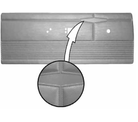 Legendary Auto Interiors - 1968 Dart GT & Dart GTS Bucket Style Rear Door Panel - Image 1