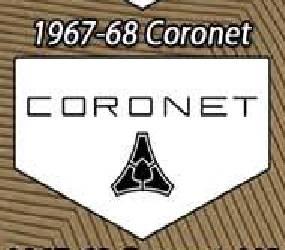 Legendary Auto Interiors - Mopar Vinyl Custom Vintage Floor Mats 1967-1968 Dodge Coronet