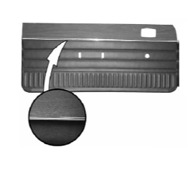 Legendary Auto Interiors - 1973 Dart Swinger and Scamp Bench Style Rear Door Panels - Image 1