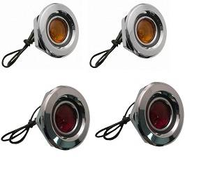 Dante's Mopar Parts - Mopar Side Marker Lens SET- 1968 Dodge Coronet Front & Rear Set of 4 - Image 1