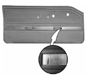Legendary Auto Interiors - 1964-65 Plymouth Barracuda Bucket Style Front Door Panel - Image 1