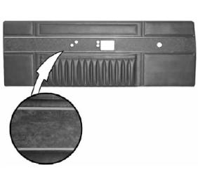 Legendary Auto Interiors - 1968 Barracuda Deluxe Bucket Style Front Door Panel