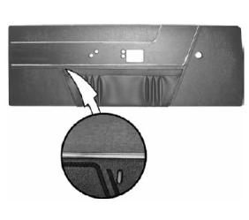 Legendary Auto Interiors - 1969 Barracuda Deluxe Bucket Style Front Door Panel - Image 1