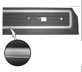Legendary Auto Interiors - 1970 Satellite, Roadrunner & Superbird Deluxe Bench Style Rear Door Panel - Image 1