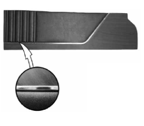 Legendary Auto Interiors - 1973 Satellite & Roadrunner Bucket & Cloth Bench Style Rear Upper Panel - Image 1