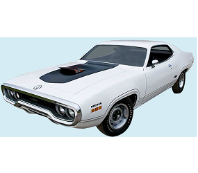 Dante's Mopar Parts - Mopar Stripe Kits 1971 GTX Decal & Body Stripe (Air Grabber Cars) - Image 1