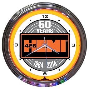 Dante's Mopar Parts - Neon Clocks - Hemi 50th Anniversary - Image 1