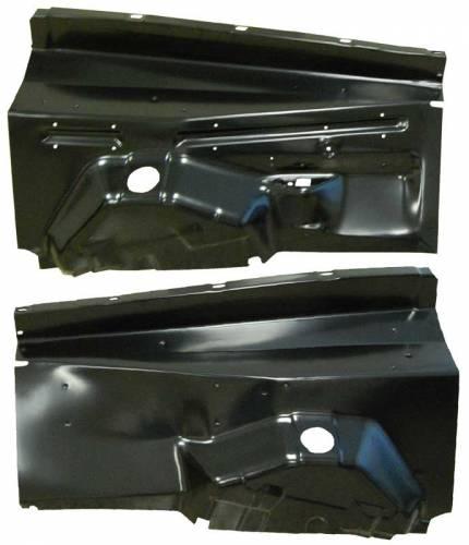 AMD-Auto Metal Direct - Mopar Sheet Metal Inner Fender-PAIR 67-74 Dodge Dart, 71-72 Dodge Demon, 71-74 Scamp, 70-74 Duster, 73-74 Dart Sport - Image 1