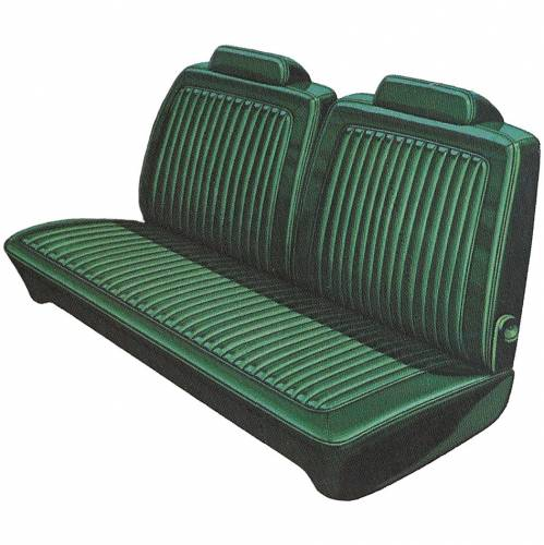 Dante's Mopar Parts - Mopar Seat Covers 1974-76 Dart Swinger, Dart Sport & Plymouth Duster, Scamp Front Split Bench - Image 1