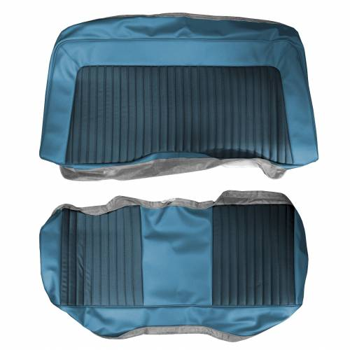 Dante's Mopar Parts - Mopar Seat Covers 1973 Plymouth Barracuda, Cuda & Dodge Challenger E-body Rear Bench - Image 1