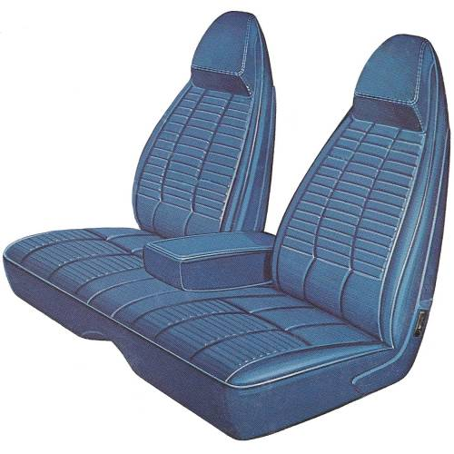 Dante's Mopar Parts - Mopar Seat Covers 1970 Dodge Challenger Front Split Bench with Center Armrest Seat Cover