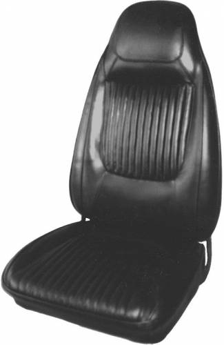 Dante's Mopar Parts - Mopar Seat Covers 1970-71 Challenger RT, SE & Challenger Leather Style E-body Front Buckets - Image 1