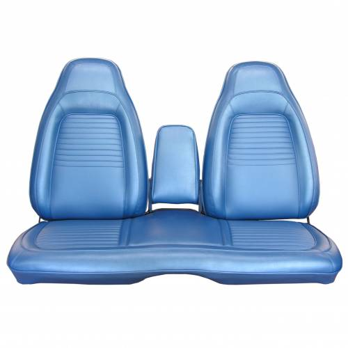 Dante's Mopar Parts - Mopar Seat Covers 1970 Plymouth Barracuda & Cuda  Front Split Bench with Center Armrest