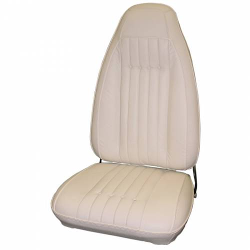 Dante's Mopar Parts - Mopar Seat Covers 1970-71 Plymouth Cuda & Gran Coupe Leather Style Front Buckets - Image 1