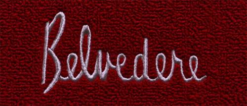 "Dante's Mopar Parts - Mopar Carpeted Floor Mats ""Belvedere"" Logo"