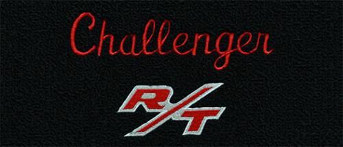 """Dante's Mopar Parts - Mopar Carpeted Floor Mats """"Challenger R/T"""" Logo - Image 1"""