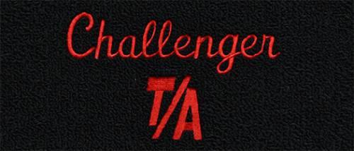 """Dante's Mopar Parts - Mopar Carpeted Floor Mats """"Challenger T/A"""" Logo - Image 1"""
