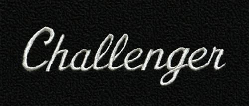"Dante's Mopar Parts - Mopar Carpeted Floor Mats ""Challenger"" Logo - Image 1"
