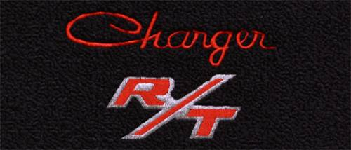 "Dante's Mopar Parts - Mopar Carpeted Floor Mats ""Charger R/T"" Logo - Image 1"