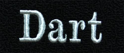 "Dante's Mopar Parts - Mopar Carpeted Floor Mats ""Dart"" Logo - Image 1"