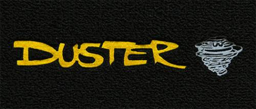"Dante's Mopar Parts - Mopar Carpeted Floor Mats ""Duster""  Logo - Image 1"