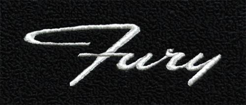 "Dante's Mopar Parts - Mopar Carpeted Floor Mats ""Fury"" Logo - Image 1"