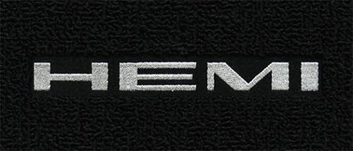 "Dante's Mopar Parts - Mopar Carpeted Floor Mats ""Hemi"" Logo - Image 1"